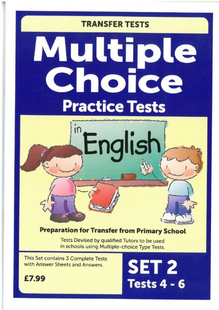 Multiple Choice Practice Transfer Test in English Set 2 Tests 4-6 by Pat Quinn